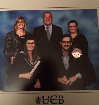 graduation with family at Symphony Hall