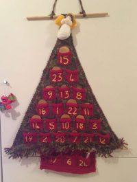 knitting, knitted, advent calendar, christmas tree, christmas, festive, blogmas, advent