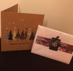 christmas card, christmas, festive, gift, present