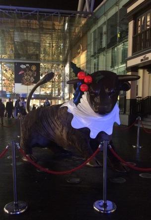 bull, bullring, birmingham, christmas pudding, christmas