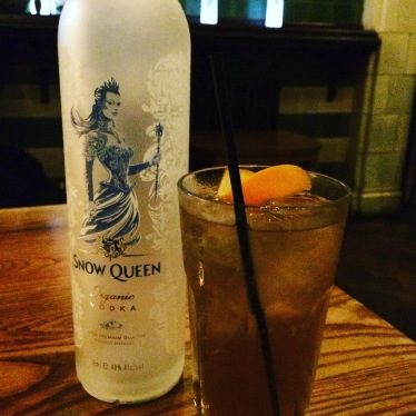 snow queen vodka, vodka, alcohol, rose villa tavern