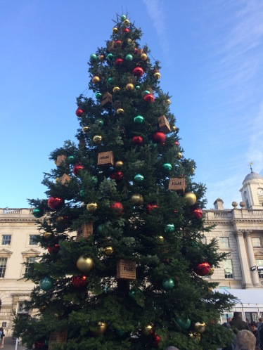 fortnum and mason, london, somerset house, christmas tree, christmas