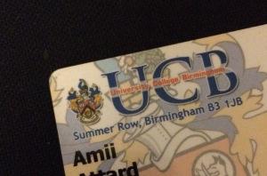 student card, student, UCB, birmingham