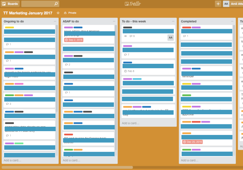 trello, organisation, project management, work, professional