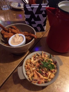 sweet potato fries, mexican slaw, side dishes, Bodega Birmingham