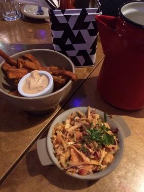sweet potato fries, mexican slaw, side dishes, Bodega Birmingham