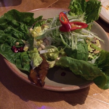 plantain salad, lettuce, pine nuts, chillies, Bodega Birmingham