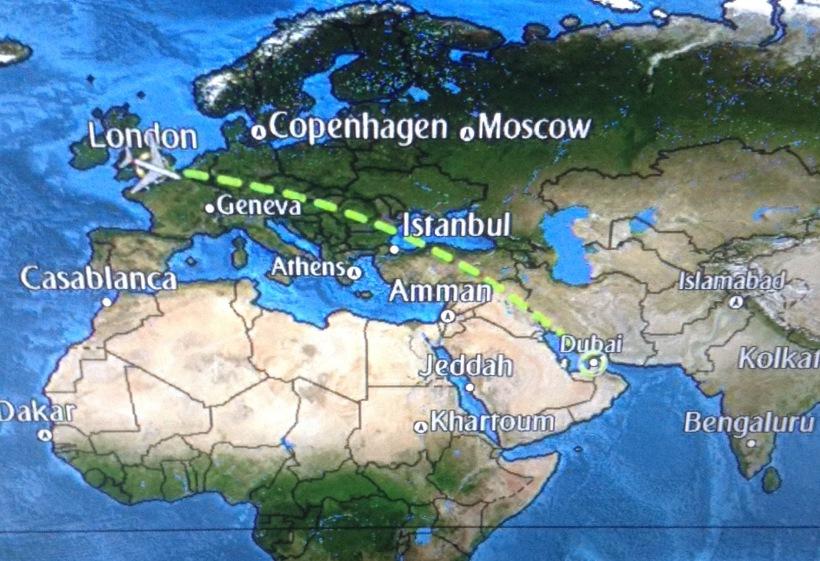 Emirates, flight, dubai, gatwick, destination plan