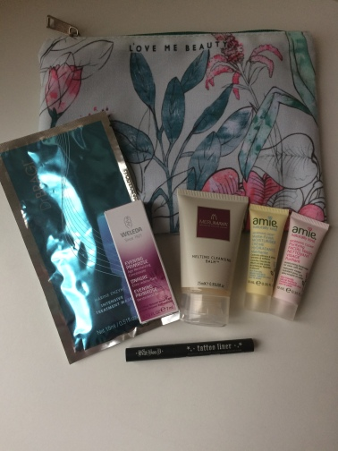 Love Me Beauty, beauty subscription box, beauty products, beauty review, dr bragi, amie, weleda, kat von d