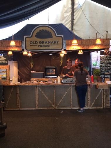 old granary food stall, street food, pierogi, polish cuisine, british street food awards