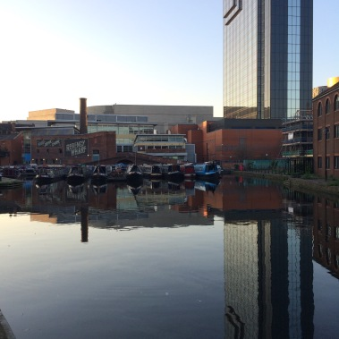 birmingham, canals, hyatt regency, gas street basin, city life