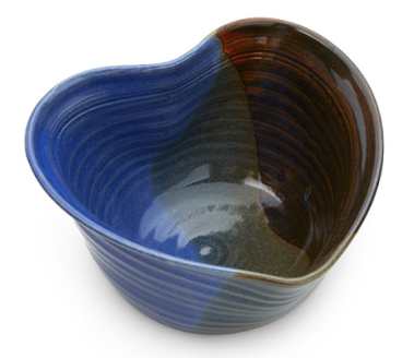 uncommongoods, heart snack bowl, pottery, handmade, kitchenware