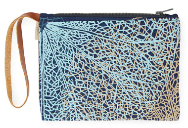 uncommongoods, recycled denim clutch, handbag, ethical fashion