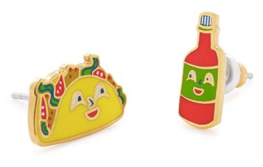 uncommongoods, taco, hot sauce, earrings, handmade, fashion