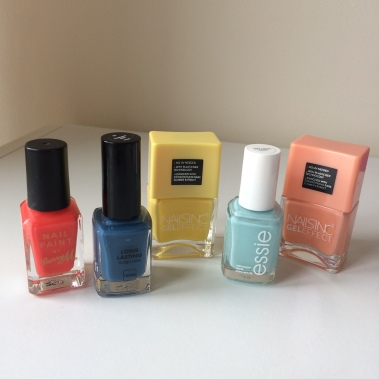 summer nails, nail varnish, nail polish, essie, nails inc, hema, barry m, beauty