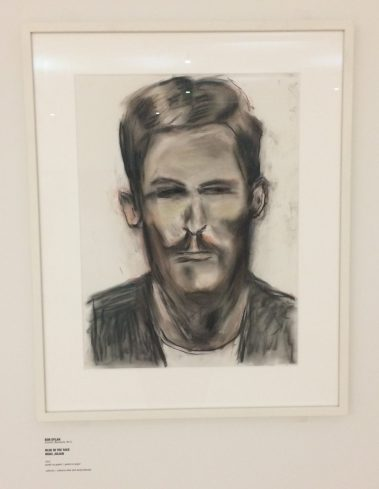 bob dylan, face value, pastel sketch, portrait, artwork