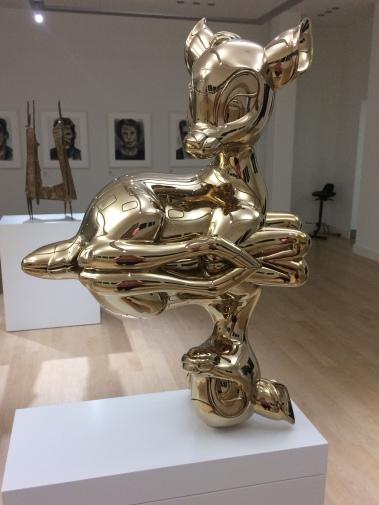 joseph klibansky, artist, polished bronze, sculpture, bambi, youth