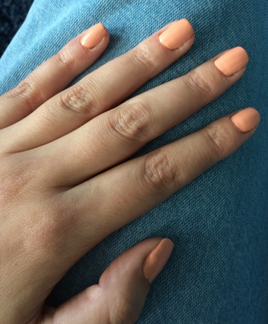 nails inc, nail polish, beauty, peach