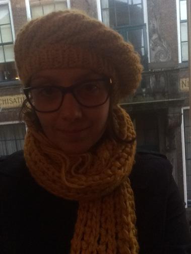autumn fashion, autumn clothing, scarf, hat, beret, mustard, autumn colours