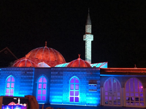 glow eindhoven, light art festival, mosque, shine the whole universe is yours, light display