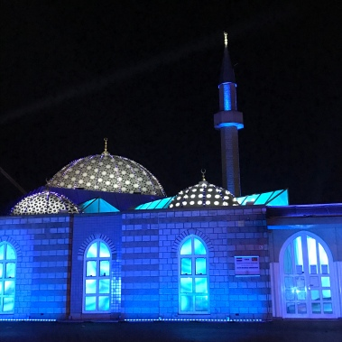 glow eindhoven, light art festival, mosque, shine the whole universe is yours