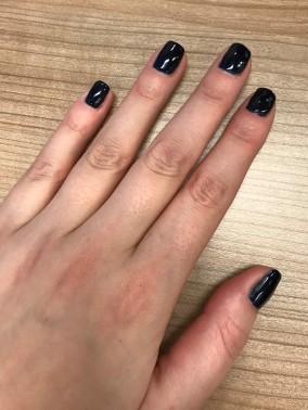 gel nails, sensationail, nail polish, beauty review, chanel blue satin