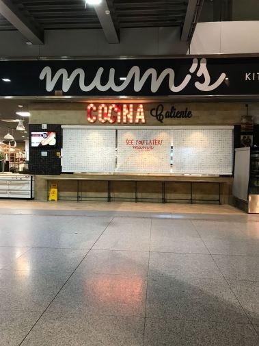 navigating malaga airport, amii at thirty, mums kitchen, restaurant, airport guide