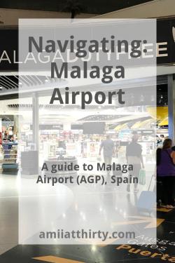 navigating malaga airport, malaga, spain, airport guide, amii at thirty, travel blog