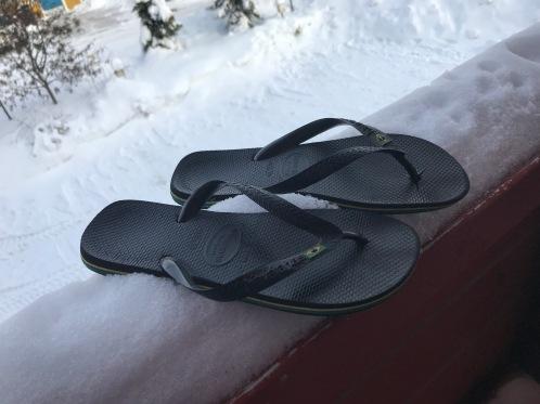 havaianas, flipflops, ski holiday, winter holiday, comfort