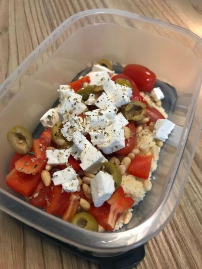lunchbox salad, greek salad, work lunch, lunchbox, salads